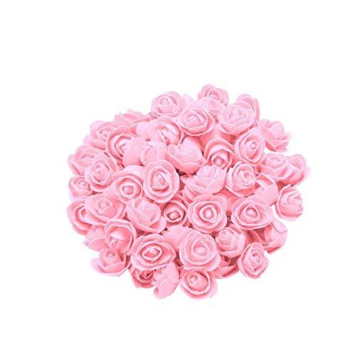 100 STKS Foam Rose Bloem Hoofd Voor Bruiloft Auto Decoratie Verjaardag Valentijn Home Decor DIY Pompom Rosa Scrapbooking Craft Flores, H, Verenigde Staten