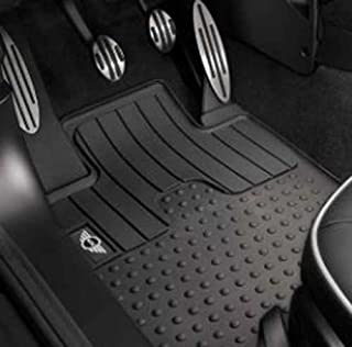 Mini Cooper/Cooper S Front Floor Mat w/Rubber Wings Logo OEM for Countryman (R60) & Paceman (R61) & All4