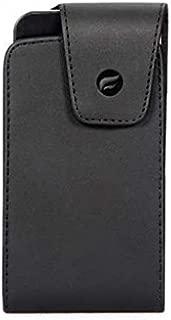 Premium Black Leather Case Cover Protective Pouch Belt Holster Swivel Clip for Verizon Blackberry Z30 - Verizon Google Pixel - Verizon HTC Desire 526