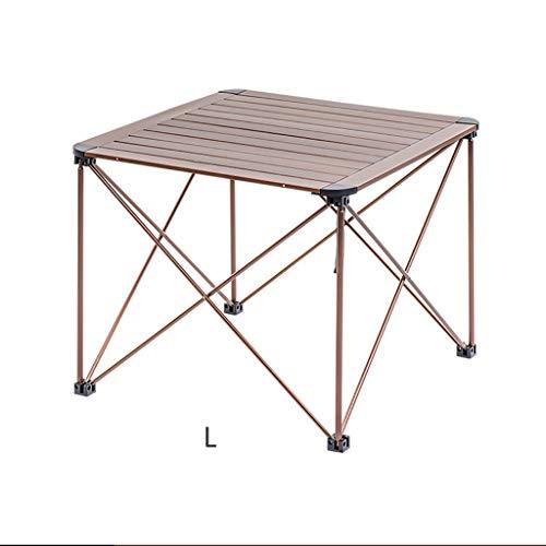 NYKK Picnic Que acampa del jardín al Aire Libre de la Bandeja del Soporte de la Mesa de Aluminio Plegable Mesa de Centro (Size : D)