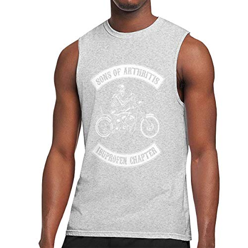 Athletic Shirts & Tees Oberteil und Bluse, Son of Arthritis Ibuprofen Chapter Printed Design Mens Tank Tops Sport Gym Shirt Summer Casual Work Out Sleeveless Muscle Tee
