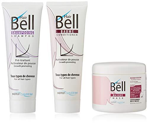 B2C Hairbell Set Masque 500 ml + baume 250ml + shampooing 250 ml