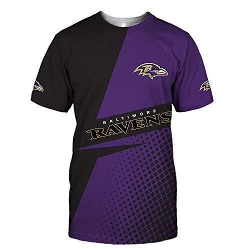 NFL American Football Sweatshirt Baltimore Ravens T-Shirt Jersey Logo Print Kurzarm T-Shirt