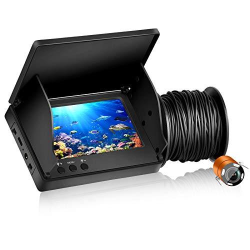 MASALING Fishfinder Unterwasserkamera 1000TVL Pixel HD Angelkamera mit Infrarotlicht zum Angeln auf Eis, Angeln im Boot