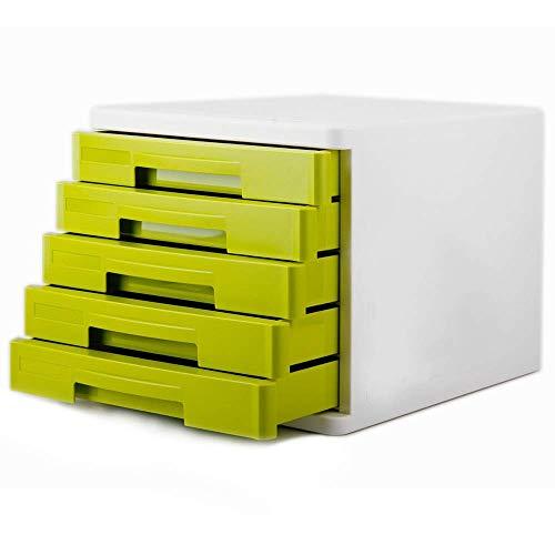 Nfudishpu-Aktenschränke Vielseitiges Design Ein Desktop Organizer-Schubladen-Aktenschrank Schubladen-Datei Ein Papierdokumentenspeicher-Management-Schublade Verschiebender Aktenschrank (Farbe: Grün, G