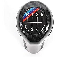 Cambio de Palanca del Cambio del Coche, Fibra de Carbono Alta luz Perilla de Cambio Manual del Cambio de Marchas para E46 E53 E60 E61 E63 E65 E81 E82 E83 E90 E91 E92 1 3 5 6 Serie X1 X3 X5