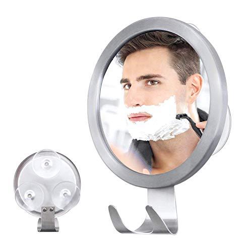 Ulinek Rasierspiegel Antibeschlag Duschspiegel Einstellbarer Wandspiegel mit starkem Saugknopf für Badezimmer Duschen usw