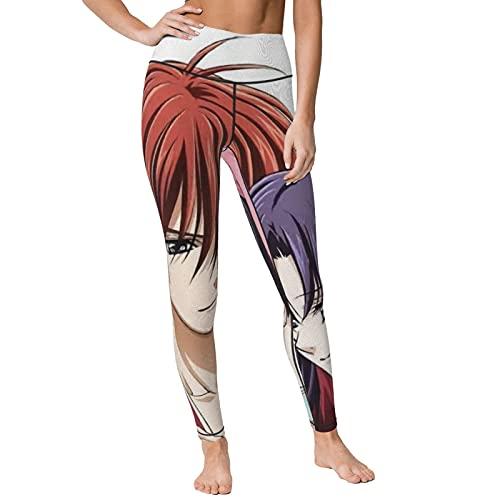 Gintamade Pantalones de yoga de cintura alta Rurouni Kenshin Kamiya Kaoru Entrenamiento Stretch Yoga Leggings