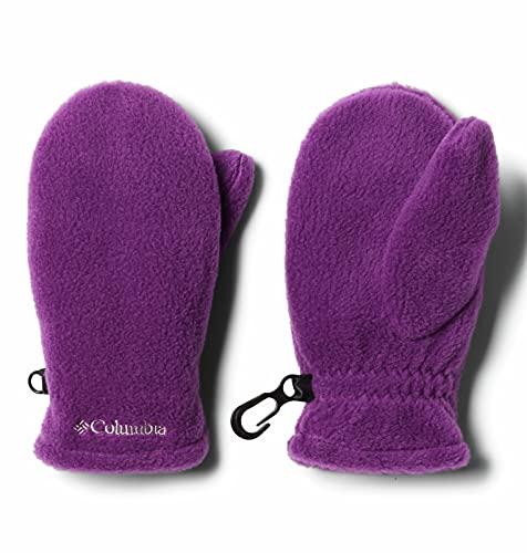 Columbia unisex kids Fast Trek Mitten Cold Weather Gloves, Plum, One Size US