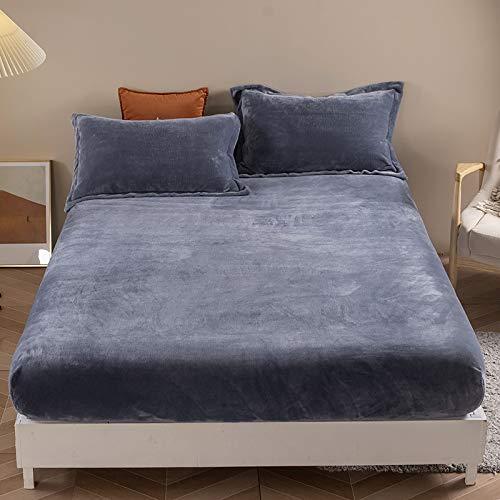 Haiba - Lenzuola anallergiche per letto con tasche profonde e federe per cuscino e lenzuola, 150 x 200 x 25 cm