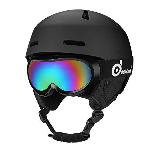 Odoland Kinder Skihelm Schneehelm mit Skibrille für Kinder und Jugendliche, ASTM und EN 1077...