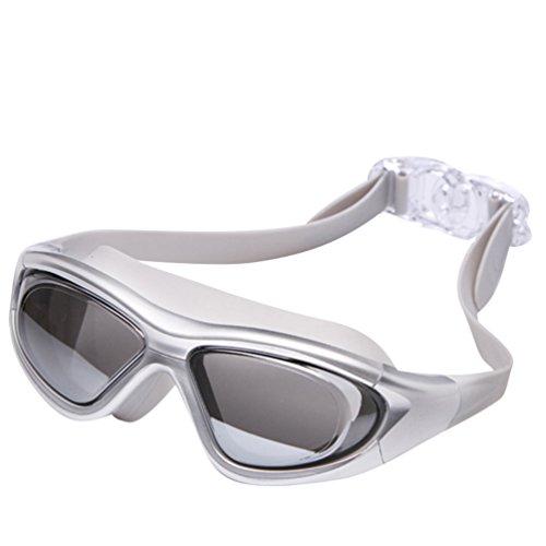Tookang Unisex Gafas De Natación Marco Grande Alta Definición Anti-UV Anti Niebla Impermeable Gafas De Protección Viene Con Caja De Gafas