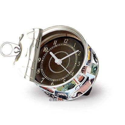 BRISA VW Collection - Volkswagen Tisch-Uhr, Magnet-Uhr, MyClock auch personalisierbar, Foto-Geschenk, VW-Fan-Sammler-Stück (VW Käfer Motiv/Briefmarken)
