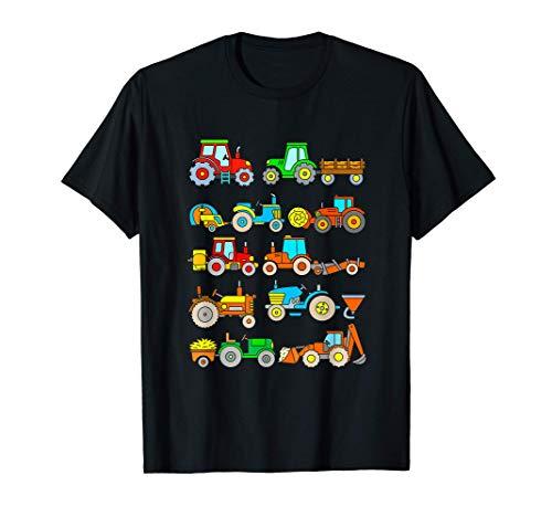T Shirt Trattore Bambino Veicoli Agricoli Fattoria Trattori Maglietta