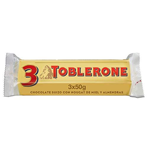 Toblerone - Chocolate con Leche Suizo - Pack de 3 Barritas x 50 g