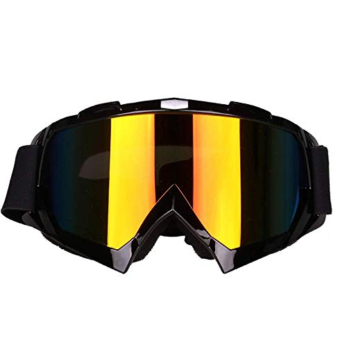 LAMZH Sunglass Fashion Big Box Ski Gafas Bikeing Gafas Deportivas al Aire Libre Gafas de Sol Hombres y Mujeres Ciclismo Deporte Escalada Gafas de Espejo (Color : Black, Size : One Size)