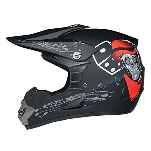 Adult ATV Off Road Quad MX Motocross Dirt Bike Mountain Bike Helmet Combo with DOT Approved Goggles+Gloves+Mask
