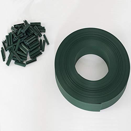 IDMarket - Kit de lamelles occultantes PVC Vertes L.60 m pour Panneau grillagé