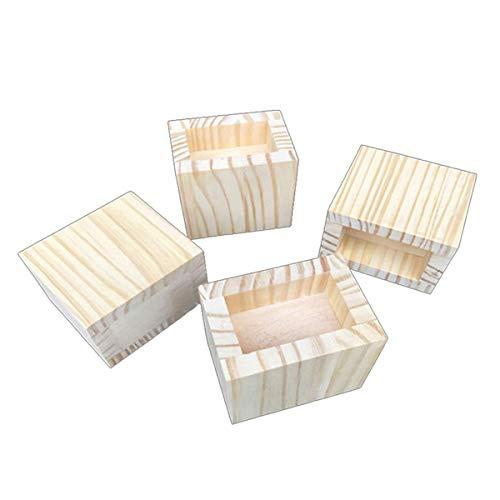 Betterhöhung, Holzmöbel, Innenmaße: 7 cm x 7 cm, 4 Packungen mit Rillenbetthubung – Hebt bis zu 598 kg auf Couch, Sofa oder Tisch (Größe: A)
