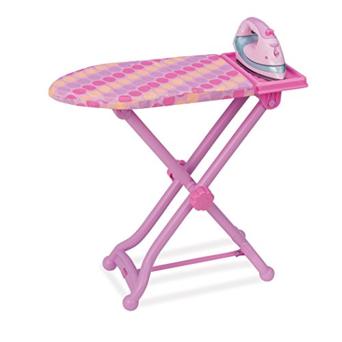 Play Circle – Kinder Bügeleisen und Kinder Bügelbrett Set mit Licht und Geräuschen, Bügeleisen Kinder mit Funktion, Spielzeug für Kinder ab 3 Jahren (3 Teile)