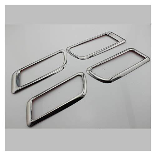 MeiZi 4 Piezas de Acero Innovador de Acero Interior manija de la Puerta Círculo Chrome Lentejuelas Cubierta Pegatina Apta para Ford Focus 2 MK2 2009-2012