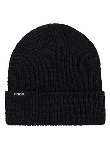 Anon(アノン) スノーボード ニット帽 メンズ ビーニー ニットキャップ ANON CUFF BEANIE 2019-20年モデル 1SZ BLACK 21570100001