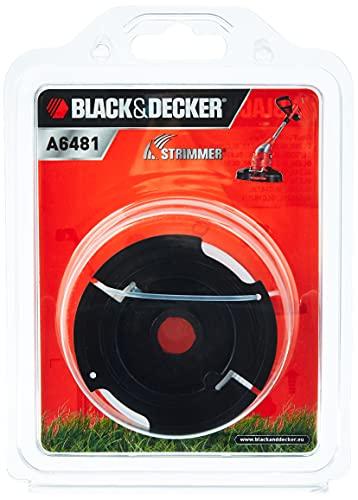 Black&Decker A6481-XJ - Bobina con hilo de 10m de largo y 1.5 mm de diámetro, para los cortabordes de alimentación Reflex Simple de 1 hilo