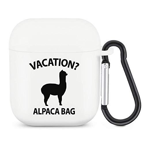 Vacation Alpaca Bag Airpods Case z brelokiem Ochrona całego ciała Silikonowa osłona akcesoriów Airpods kompatybilna z Apple Airpods 2/1