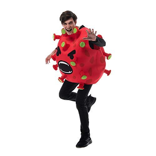U/A Disfraz de Cosplay de Coronavirus de Halloween Disfraz de Fiesta Divertido Escenario de Accesorios de Fruta de dragn Rojo