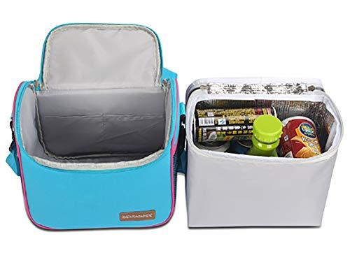 Cysincos Portable Flamingo Sac de pique-nique isotherme Lunch Box pliable Fruits Nourriture Sac de transport Sac /à main Organiseur de voyage /à nourriture