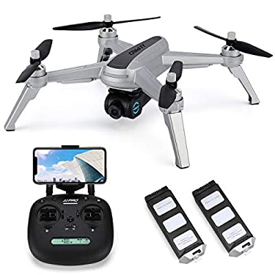 JJRC JJPRO X5 Wifi GPS Drone with 2K HD Camera Live video and GPS Return Home Quadcopter with Brushless Motor & 90°Adjustable Camera-Follow Me, Flight Surround Me, Long Control Range, Altitude Hold