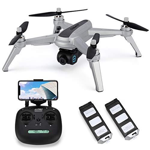 INKPOT JJRC JJPRO X5 Wifi Drone GPS con videocamera HD Video live e GPS Ritorno a casa Quadricottero con motore brushless e videocamera regolabile a 90 °, Seguimi, Distanza di controllo lunga (grigio)