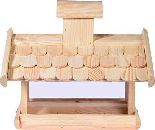 dobar 21277e Klassisches Vogelhaus groß aus Holz mit Futter-Silo, 38 x 38 x 30 cm - 6