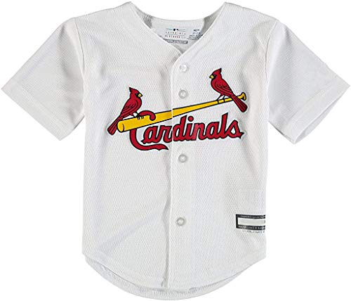 Outerstuff MLB Newborn Infants Toddler Blank Cool Base Home Team Jersey (2T, St Louis Cardinals Home White)