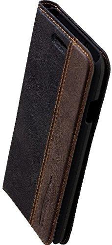 Preisvergleich Produktbild Peter JÃCKEL Commander Book CASE für Apple iPhone 6 / 6s schwarz / braun