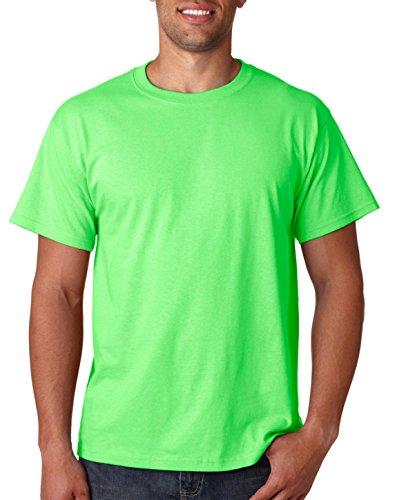 Fruit of the Loom Men's Short Sleeve Crew Tee, Large - Neon Green