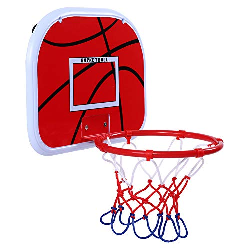 ROSEBEAR Mini-Basketballplatte Netball-Reifen mit Haken Innenaufhängung Basketball-Set Spielzeug für Kinder Spiel