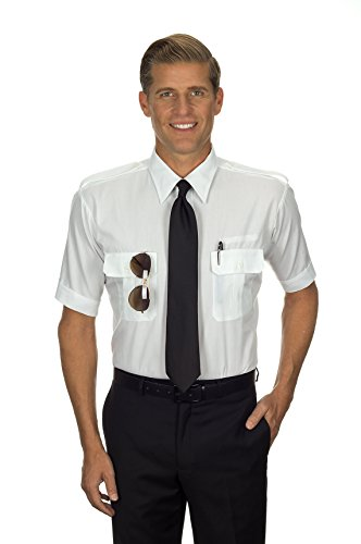 Van Heusen Tapered Fit Pilot Shirt - Men's Short Sleeve - 14...
