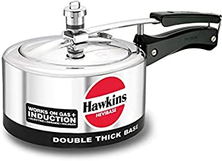 Hawkins Aluminium Pressure Cooker Hevibase 2 Liter Induction Bottom 2.0-2.4 qt.