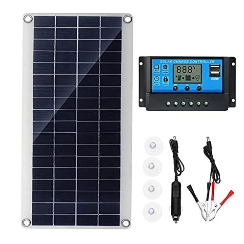 Lightofhope Cellules Solaires Flexibles de Panneau Solaire de 300W pour la Batterie Solaire de Camping de Fourgon de Toit de Bateau de Rv de Voiture, Module de Contrrleur Solaire 50A