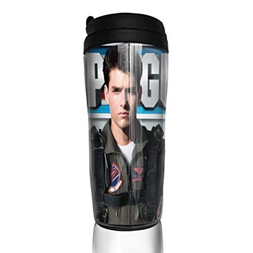Jldoenh Udjgn Top Gun Maverick Taza de café Taza Abs Material 350ml Oficina Uso Hogar Portátil Protección Ambiental
