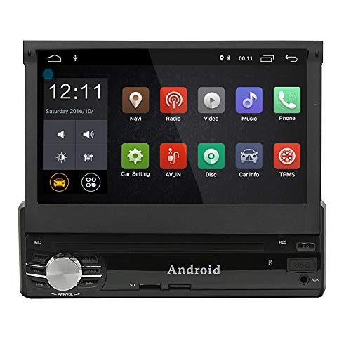 Single din Android 9.0 Car Navigation 1G+16G 7inch Digital Screen GPS SWC Compatible OBD2 TPMS 1.2G...