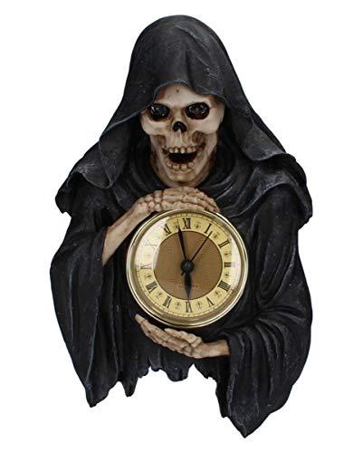 Horror-Shop Gothic Wanduhr mit Sensenmann