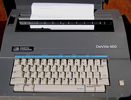 Smith Corona De Ville 450 Electric Typewriter Portable Correctable (Renewed)