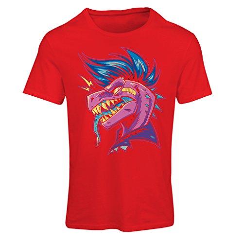 lepni.me T-Shirt Femme Punk Rock - Punk n'est Pas Mort, années 1960, 1970, années 80 (Small Rouge Multicolore)