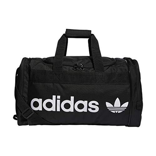 adidas Originals - Bolsa de Deporte Unisex Santiago, Color Negro/Blanco, Talla única