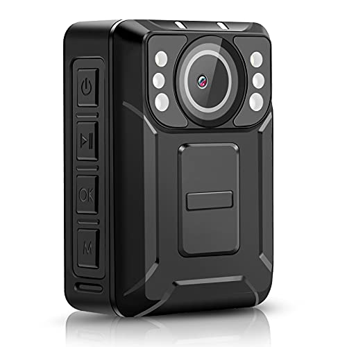CammPro M2 1440P HD Police Body Camera,128G Memory,Waterproof Body Worn Camera,Premium Portable Body Camera with Audio Recording Wearable, Night Vision for Law Enforcement