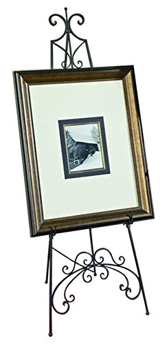TRIPAR 58165 65 Inch Black Metal Floor Easel