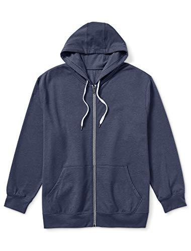 Amazon Essentials Men's Big & Tall French Terry Full-Zip Sweatshirt fit by DXL Sweater, -Navy, 7X