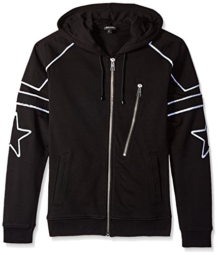 Just Cavalli Herren Kapuzenpullover Star Zip Up -  Schwarz -  Large